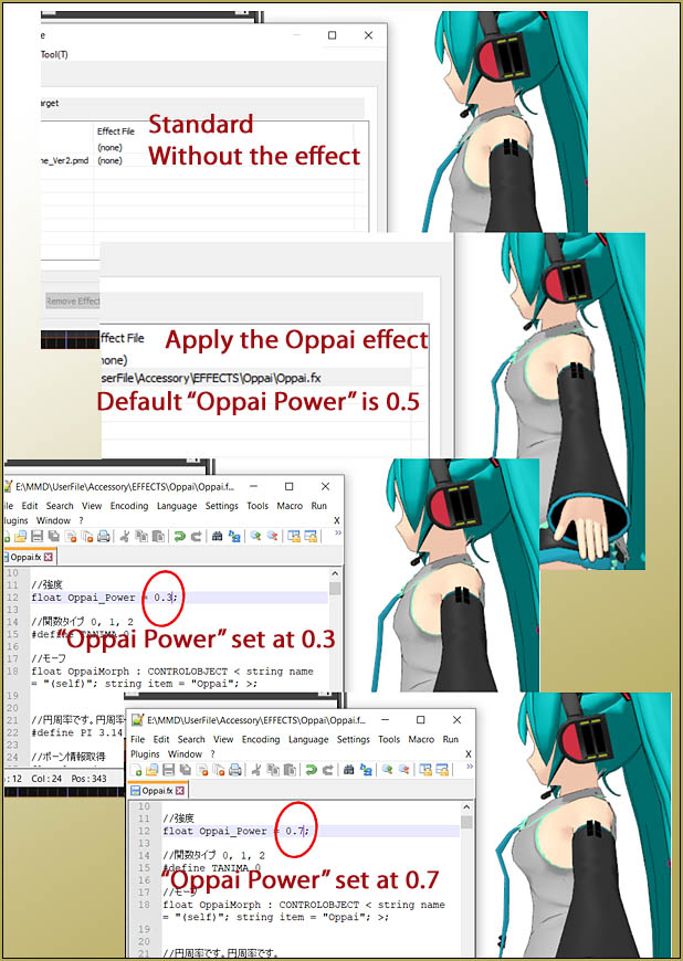 The OPPAI POWER setting controls the size of the models Oppai.