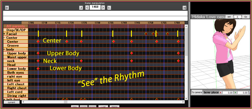 See the rhythm in this MMD motion file.