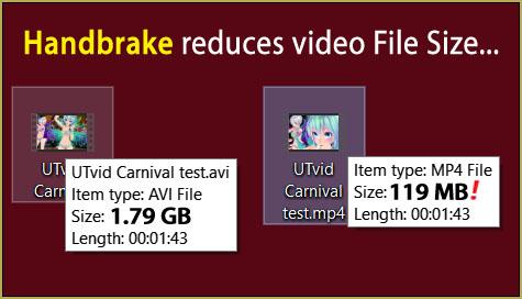 Reduce MMD video file size by using HandBrake.