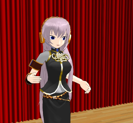 The Luka_Megurine v1-1 model included with the MMD download.