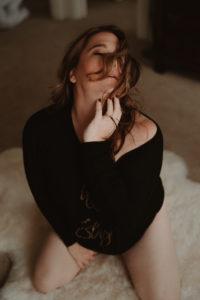 Hillary West boudoir photography taken by BrookeChamplin.com