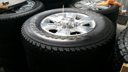 dodge ram 2500 laramie longhorn 8 lug wheels and tires for sale