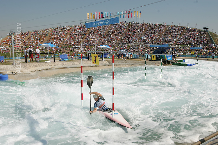 8/18/04 --Al Diaz/Miami Herald/KRT--Athens, Greece--Women's K1 Kayak Single Racing at the Olympic Canoe/Kayak Centre during the Athens 2004 Olympic Games. The winner of the Silver Medal Rebecca Giddens.