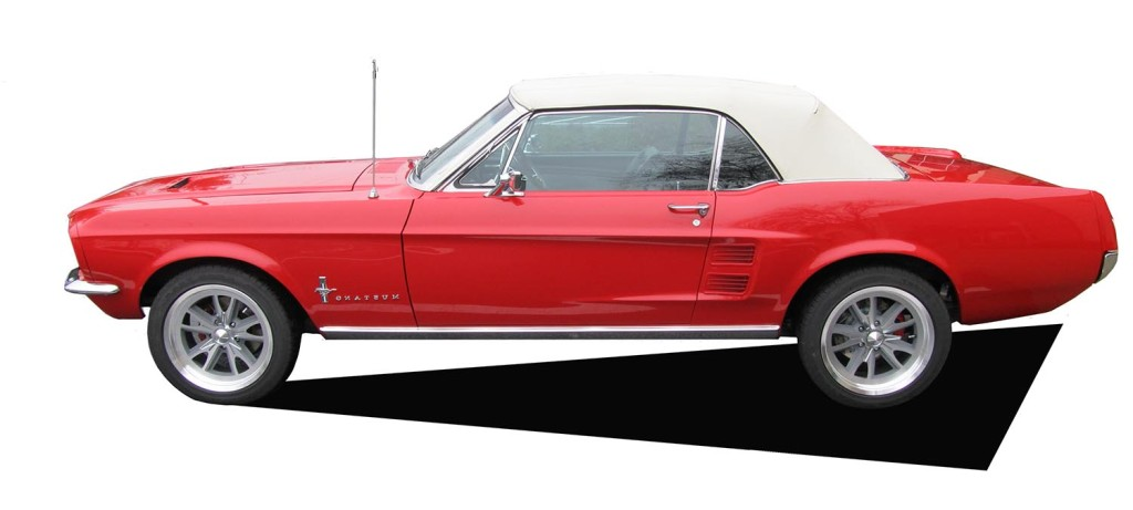1967 Mustang Convertible Red White Top