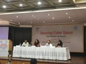 Panelists of Session - 2 (From L to R: Dr S Govind, Adv Nappinai NS, Venkatesh Krishnamoorthy, Smitha Krishna Prasad)