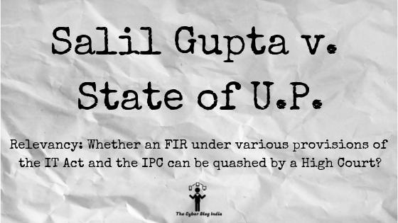 Salil Gupta v. State of U.P.