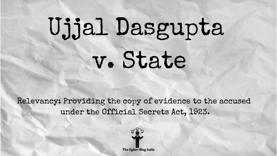 Ujjal Dasgupta v. State