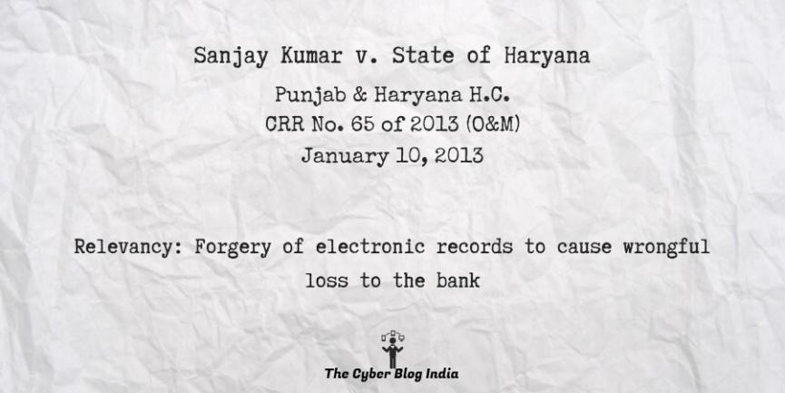 Sanjay Kumar v. State of Haryana