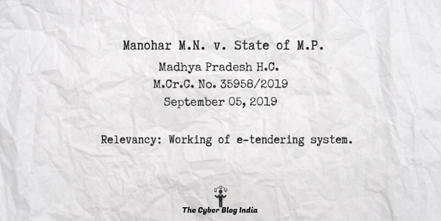 Manohar M.N. v. State of M.P.