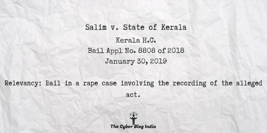 Salim v. State of Kerala
