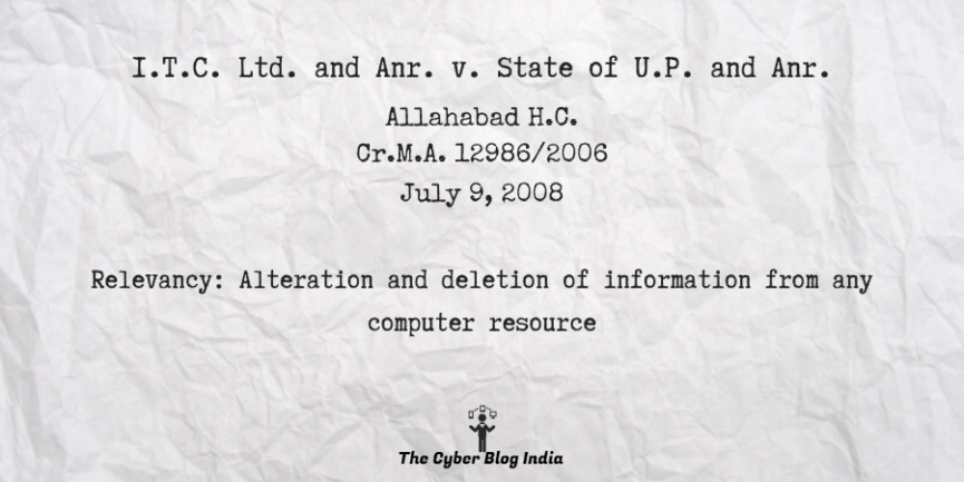 I.T.C. Ltd. and Anr. v. State of U.P. and Anr.