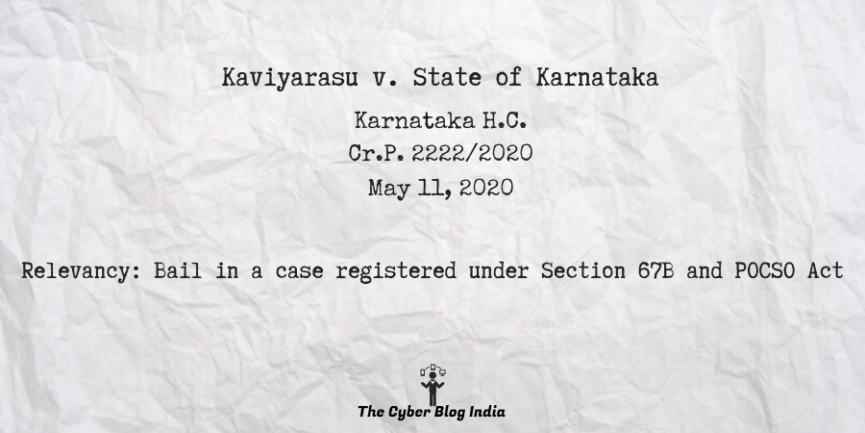 Kaviyarasu v. State of Karnataka