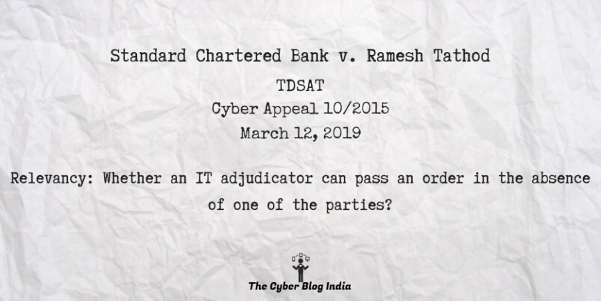 Standard Chartered Bank v. Ramesh Tathod