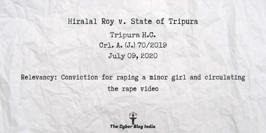 Hiralal Roy v. State of Tripura12
