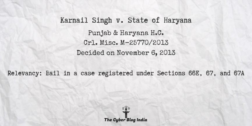 Karnail Singh v. State of Haryana