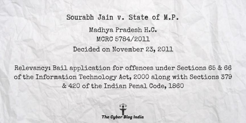 Sourabh Jain v. State of M.P.