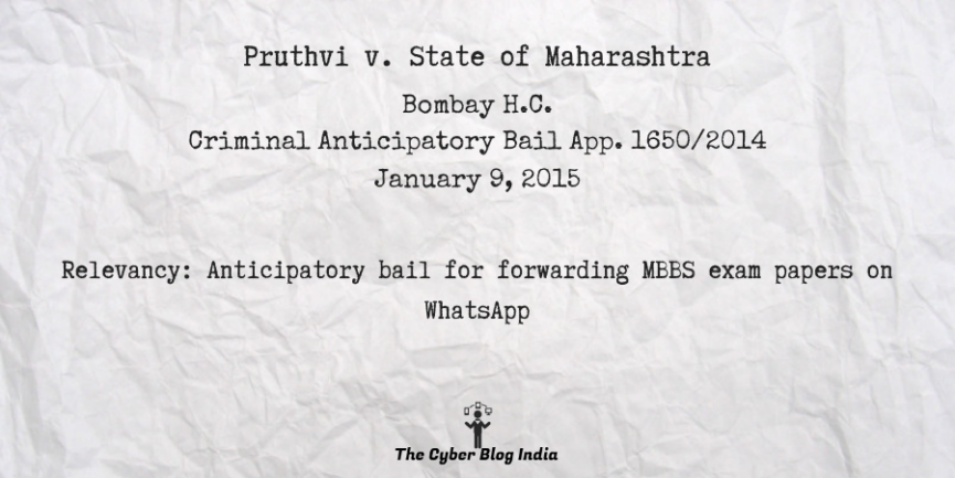 Pruthvi v. State of Maharashtra