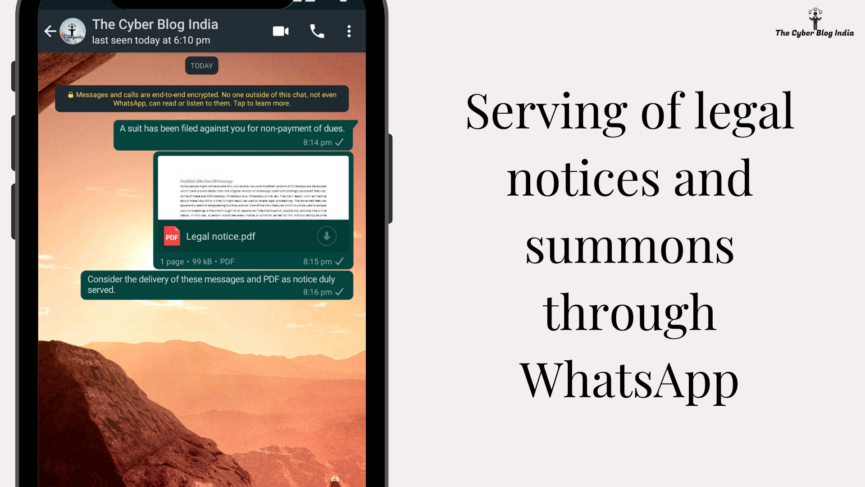 Serving of legal notices and summons through WhatsApp