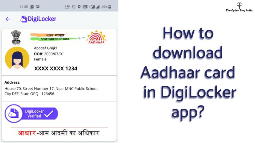 How to download Aadhaar card in DigiLocker app?