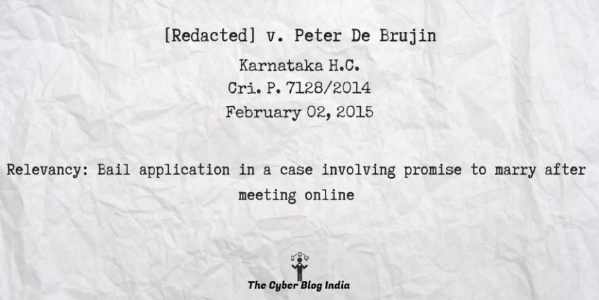 [Redacted] v. Peter De Brujin