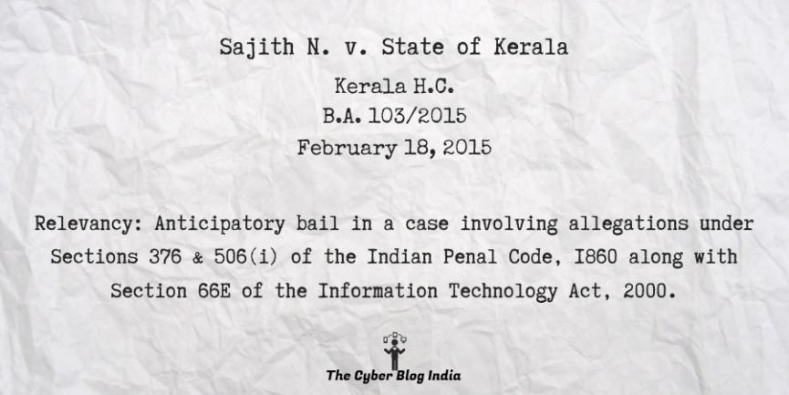 Sajith N. v. State of Kerala