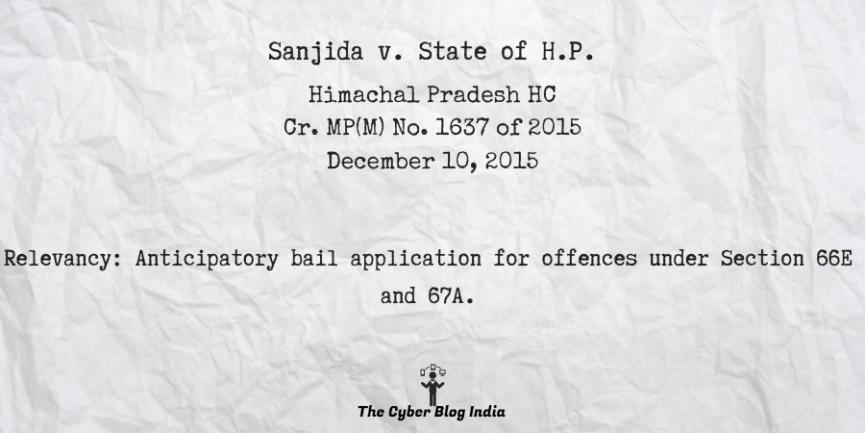 Sanjida v. State of H.P.