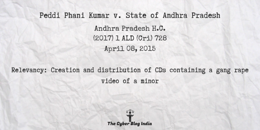Peddi Phani Kumar v. State of Andhra Pradesh