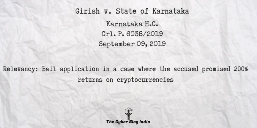 Girish v. State of Karnataka