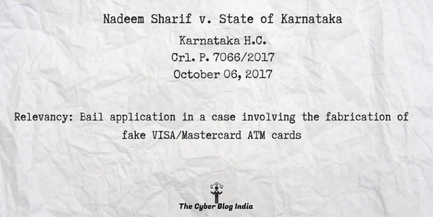 Nadeem Sharif v. State of Karnataka