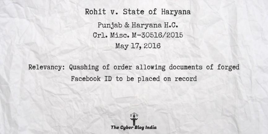 Rohit v. State of Haryana
