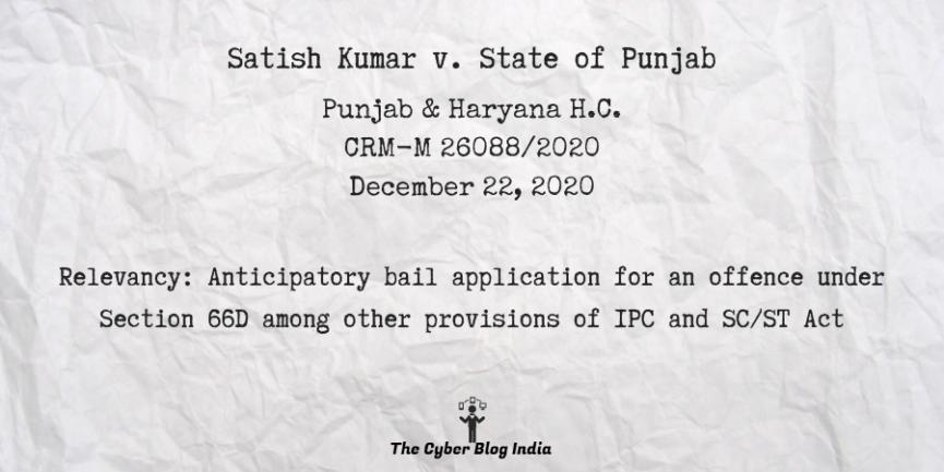 Satish Kumar v. State of Punjab