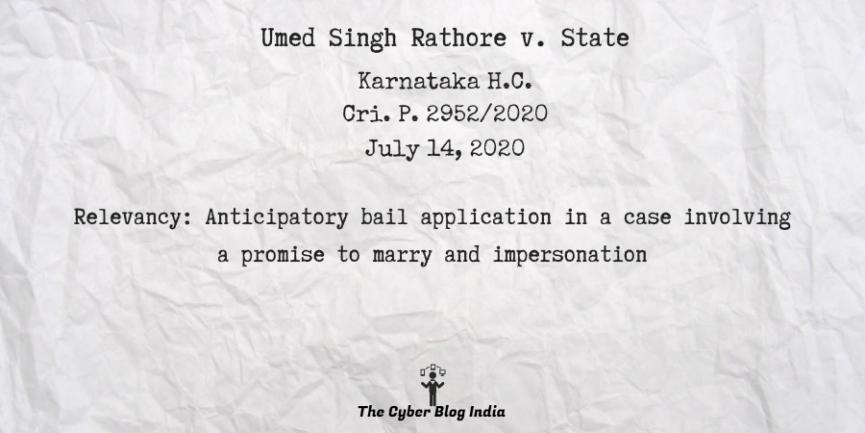 Umed Singh Rathore v. State