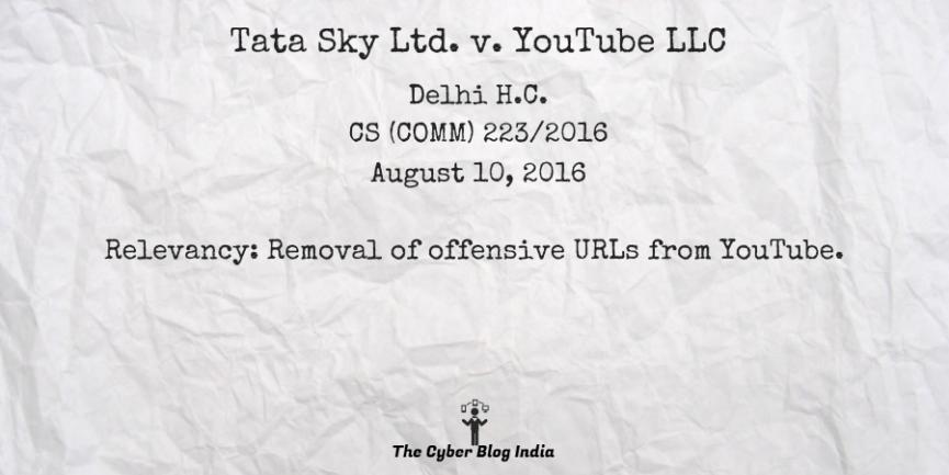 Tata Sky Ltd. v. YouTube LLC