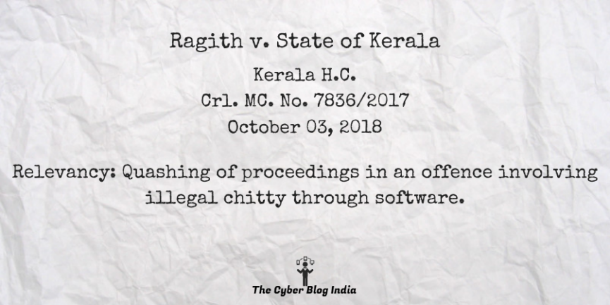 Ragith v. State of Kerala