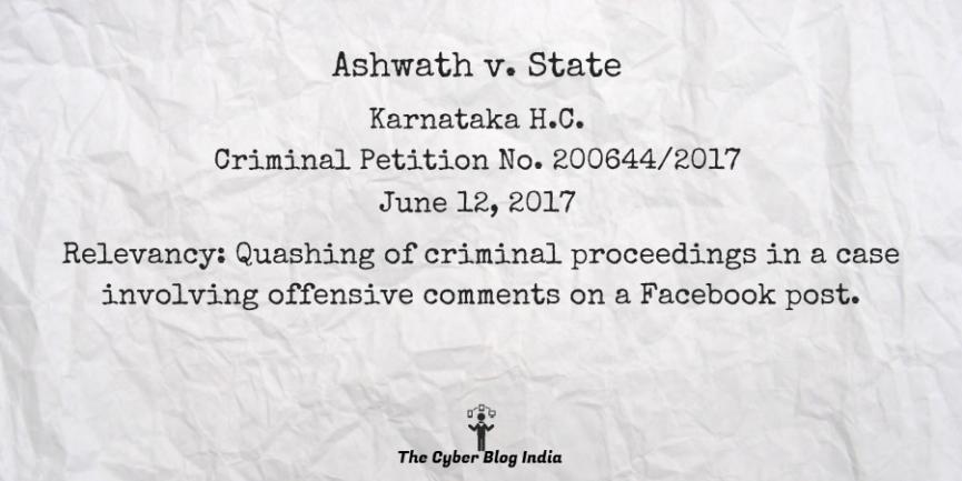 Ashwath v. State