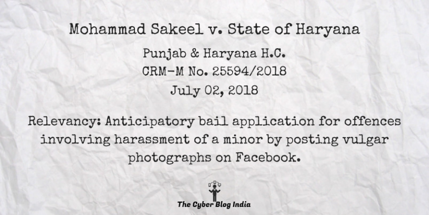 Mohammad Sakeel v. State of Haryana