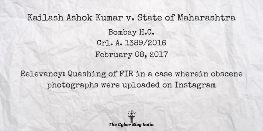 Kailash Ashok Kumar v. State of Maharashtra