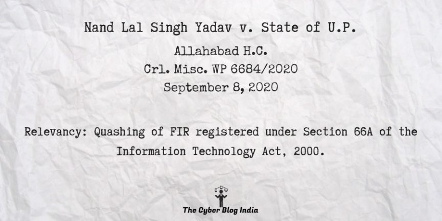 Nand Lal Singh Yadav v. State of U.P.