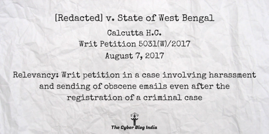 [Redacted] v. State of West Bengal