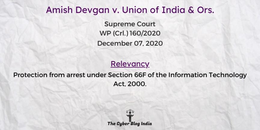 Amish Devgan v. Union of India & Ors.