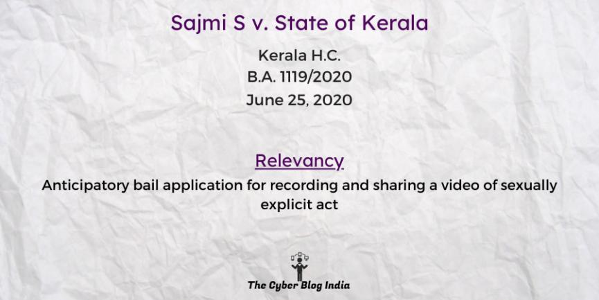 Sajmi S v. State of Kerala