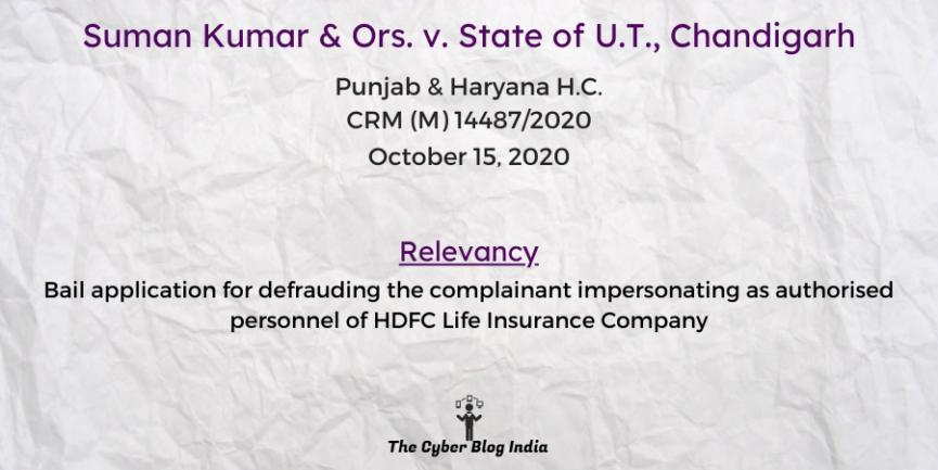 Suman Kumar & Ors. v. State of U.T., Chandigarh