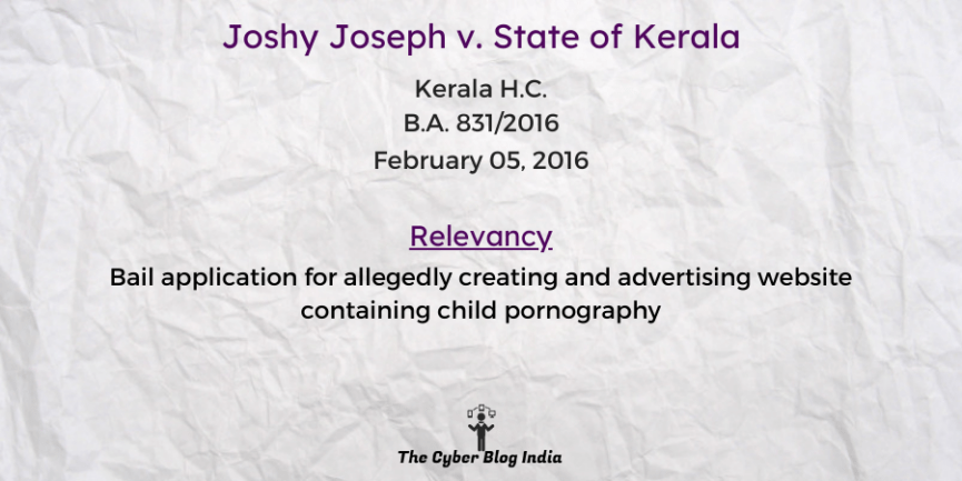 Joshy Joseph v. State of Kerala