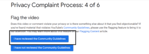 Reviewing the Community Guidelines