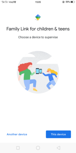 Google Family Link for children and teens - Select a device