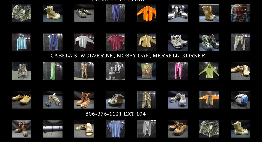 Albuquerque Mountain Rescue Online Auction, hunting, hiking, fishing outerwear, etc..