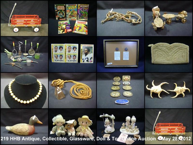 Hawk Higley Blackburn & Others Antique, Collectible, Glassware & Dolls Online Auction