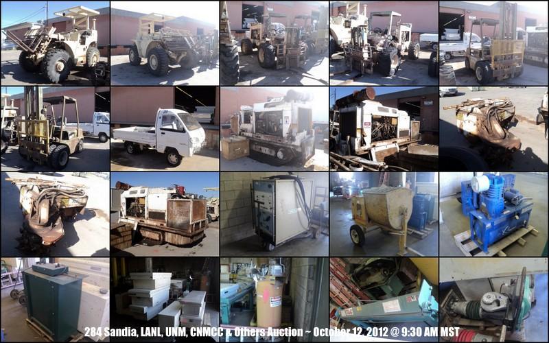 Sandia, LANL, UNM, CNMCC, NM Tech, APS & Others Surplus Auction