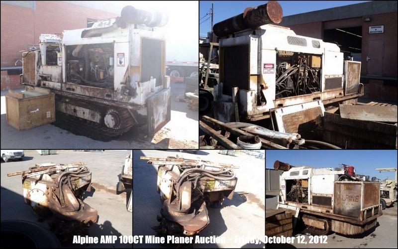 Alpine AMP 100CT Mine Planer  896 Hours Auction