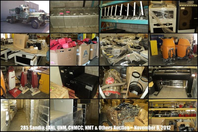 Sandia, LANL, UNM, CNMCC, NMT, APS & Others Surplus Auction